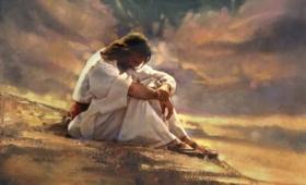 udał się na miejsce pustynne, i tam się modlił