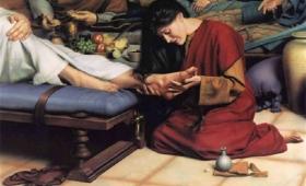 namaściła Jezusowi nogi