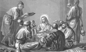 siedzieli wraz z Jezusem
