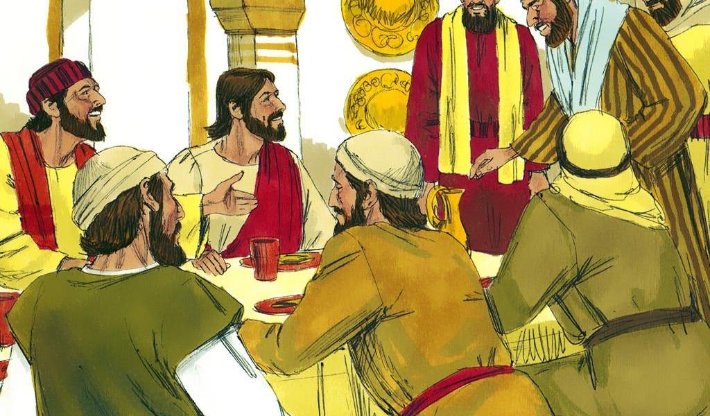 Gdy Jezus siedział w jego domu przy stole