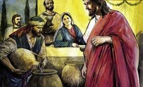 Matka Jezusa mówi do Niego: Nie mają już wina
