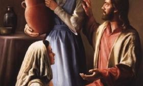 Maria siadła u nóg Pana i przysłuchiwała się Jego mowie zaś Marta…