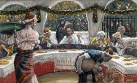 wyraził zdziwienie, że nie obmył wpierw rąk przed posiłkiem
