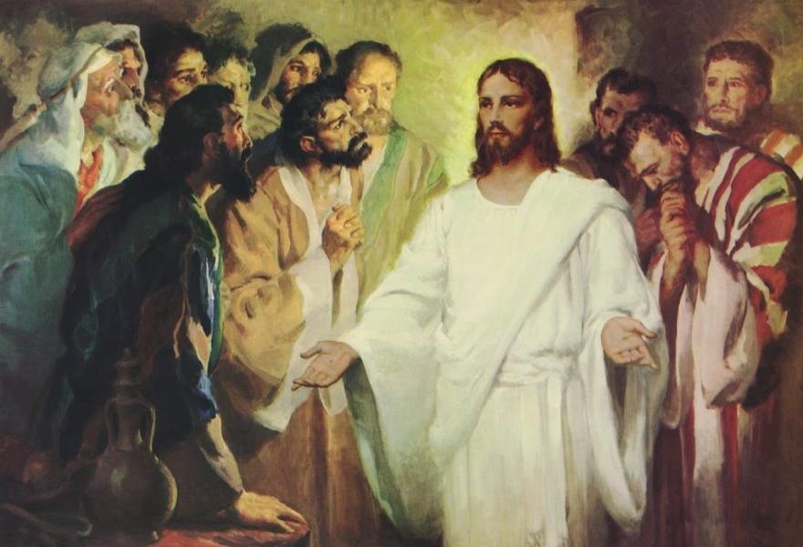 On sam stanął pośród nich i rzekł do nich: Pokój wam