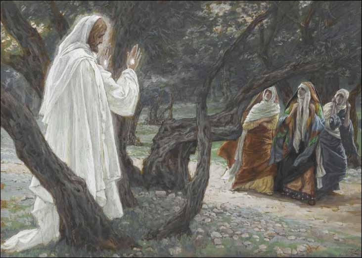 Jezus stanął przed nimi i rzekł: Witajcie!