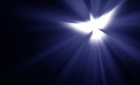 Duch Święty zstąpił na Niego, w postaci cielesnej niby gołębica