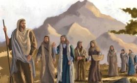 patrząc na swych uczniów, zgromił Piotra