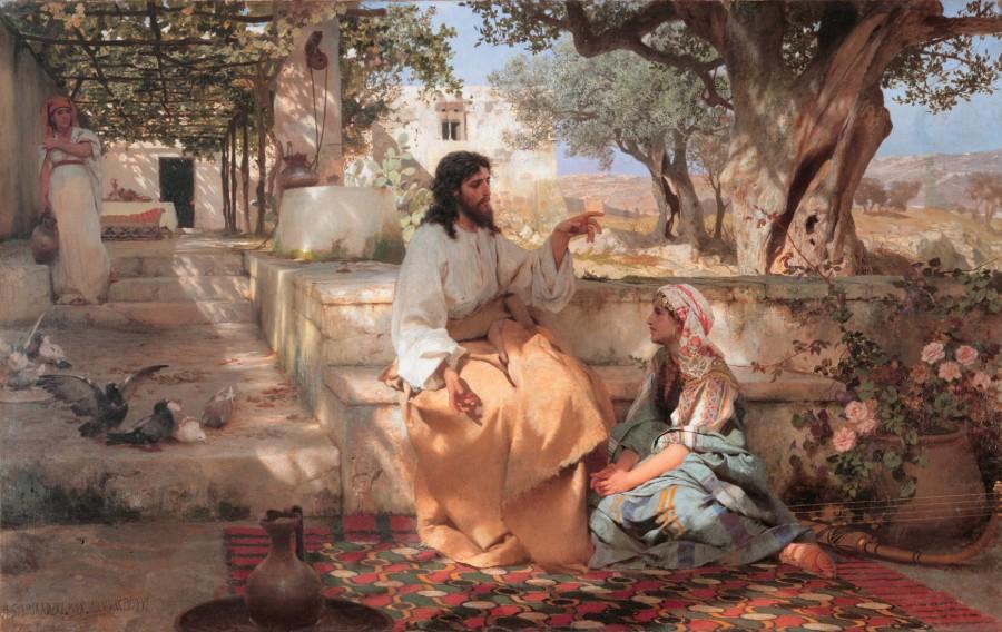 Marta uwijała się koło rozmaitych posług…