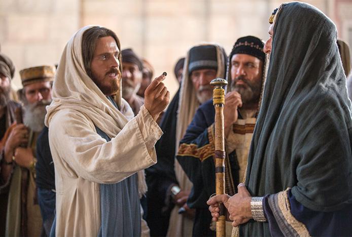 Nadeszli faryzeusze i zaczęli z Nim rozprawiać